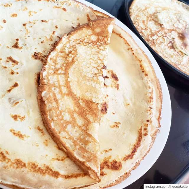 My favorite crepe recipe from @marthastewart🌸Ingredients🌸1 cup of all... (Montreal, Quebec)