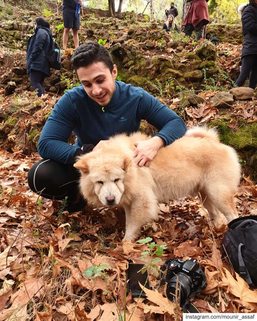not quite sure whether I was petting a dog or a bear 🐶🐻........... (Arsoun Village)