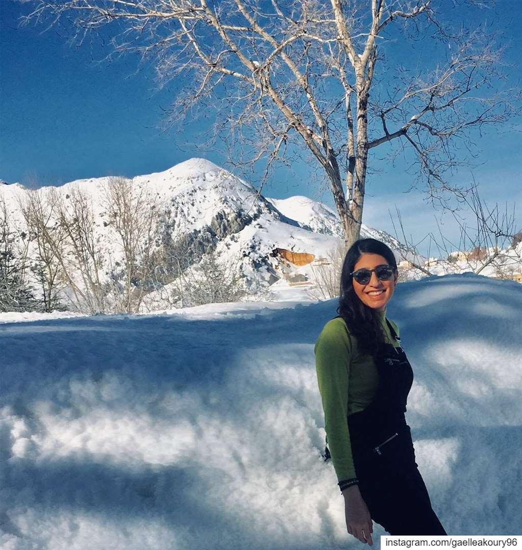The world is yours to explore ❄️ ...... roadtrip snow village ... (Laklouk Village Vacances)