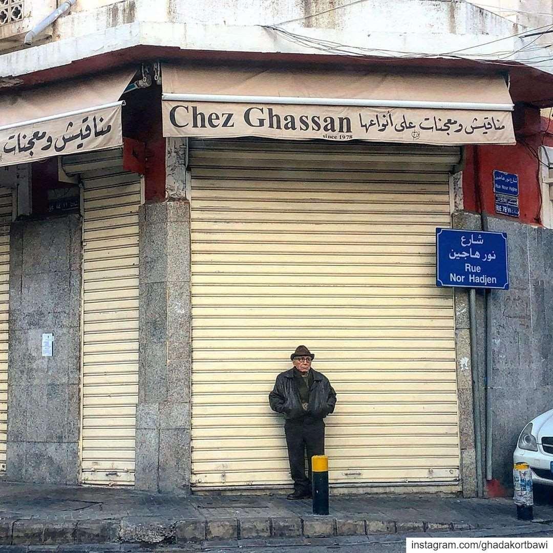 Stand alone..... oldman standing corner street theman chic ... (Qobaiyat, Beirut)