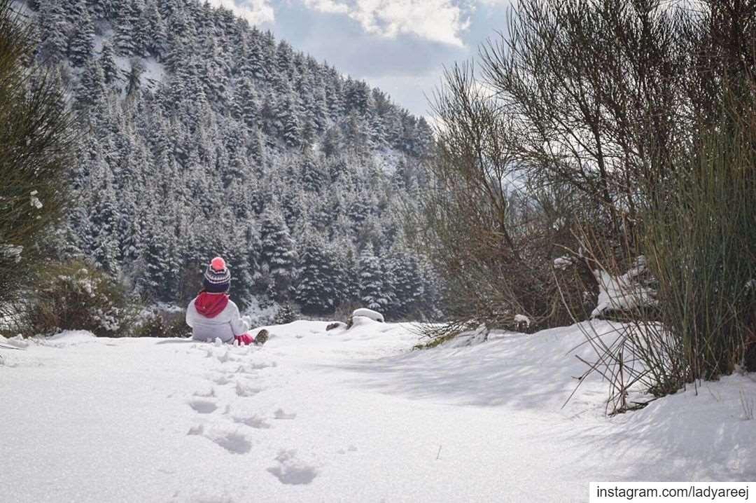 My little snow girl! mycitybeirut authenticshouf livelovebeirut ...