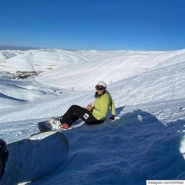 Cause I'm happy.............. snowboarding lebanon ... (Mzaar Kfardebian)