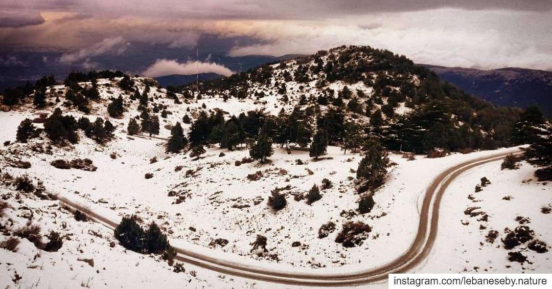 roadtohappiness.. akkar kobayat snow roadtrip winter cold ... (Al Qubayyat, Liban-Nord, Lebanon)