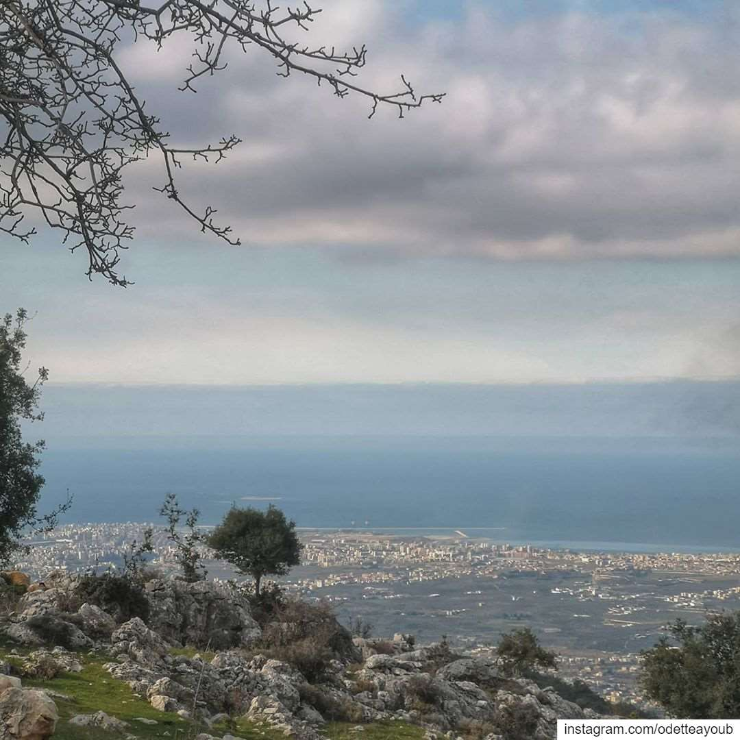 Panoramic view. From my village seeing all of Tripoli and the sea.......