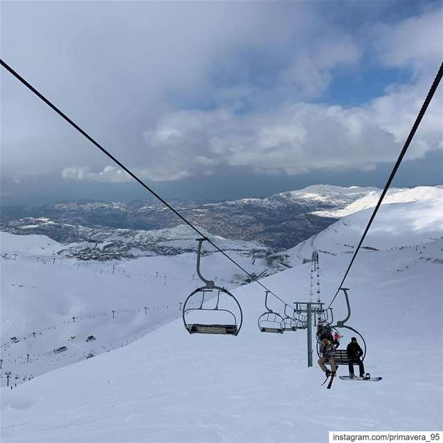 winter snow lebanon ski skitrip mountains nature lebanon ... (Faraya Mzaar Ski Resort)