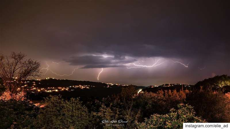 Angry skies storm thunder lightning skies thundernstorm angrynature... (Beït Hbâq, Mont-Liban, Lebanon)