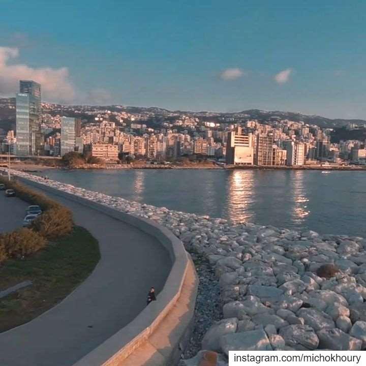Jogging time 🏃♂️.... AboveLebanon LiveLoveBeirut djiglobal Drone... (Lebanon)