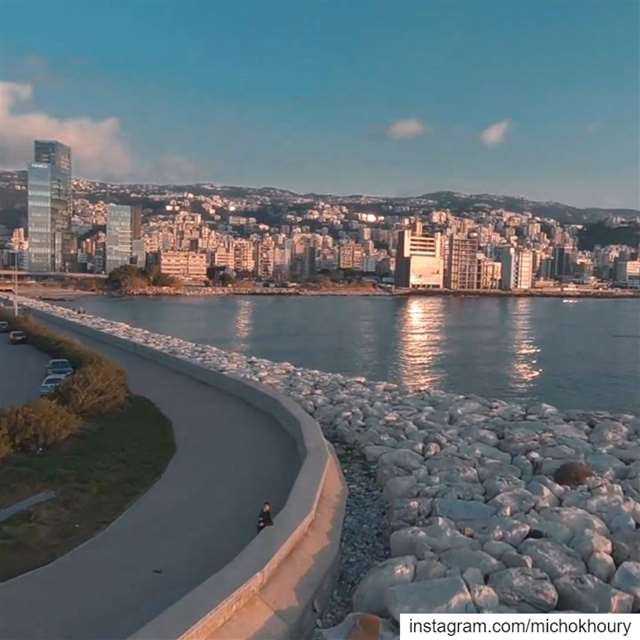 Jogging time 🏃‍♂️.... AboveLebanon LiveLoveBeirut djiglobal Drone... (Lebanon)