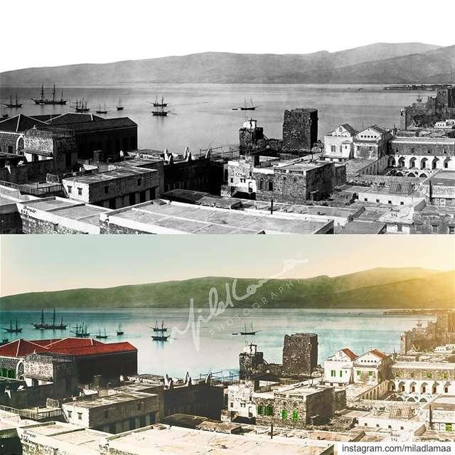 صورة لبيروت قبل ما يحتلها رأس المال، الصورة من القرن ال 19 على ما اعتقد عام (Beirut, Lebanon)