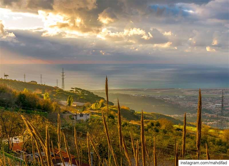 Beirut city lights clouds lebanon Pysglb Nature Landscape Photography... (Qmatiye)