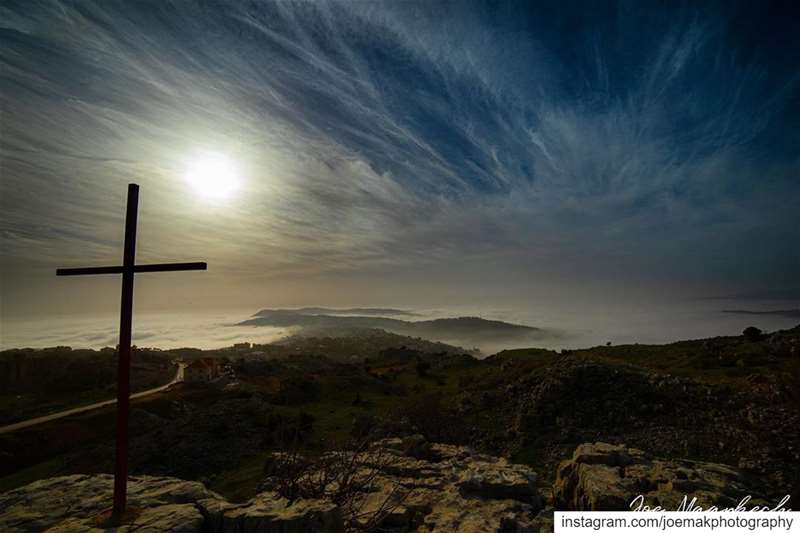 While the world changes, the cross stands firm.Saint Bruno lebanon ... (El Mroûj, Mont-Liban, Lebanon)