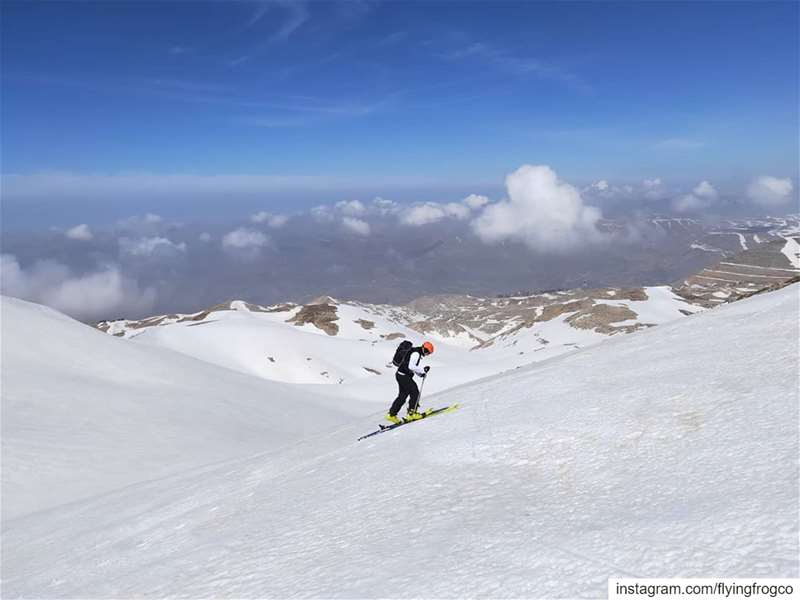 Mountain workout right on time... skitouring  ski  snow  ski2020 ... (Mzaar Kfardebian)
