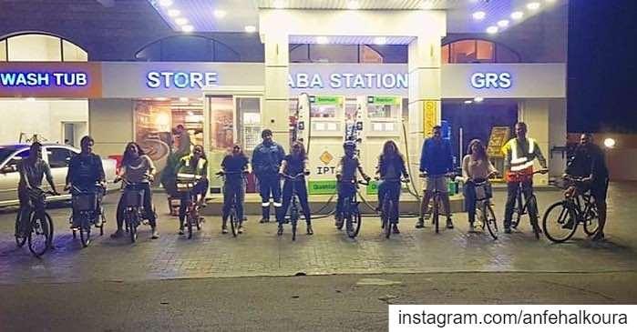 Night Ride bicycles @jcycleanfeh Cycle Anfeh @veeamericancoffeeshop ... (Anfeh Al-Koura أنفه الكورة)