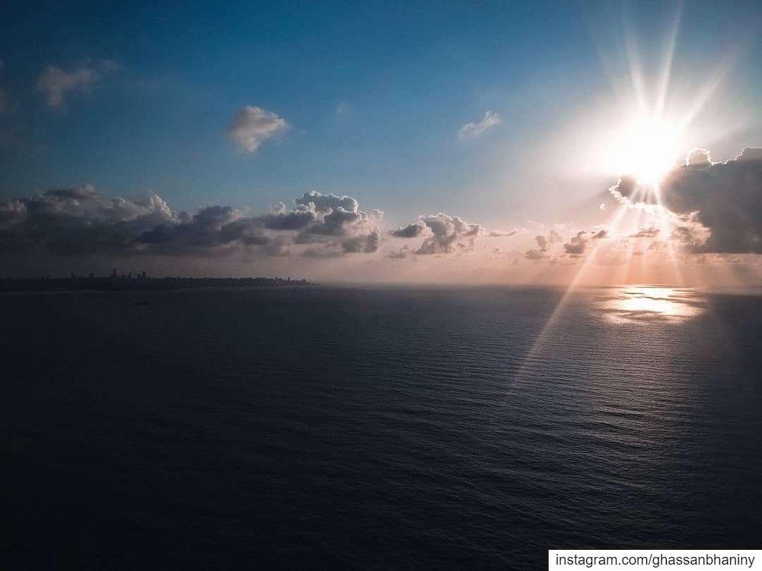 A beautiful sunset....April 2020. djispark dji djiglobal beach sea... (Beirut, Lebanon)