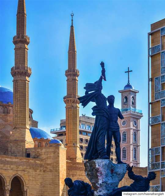 Death is at any time blessed but it is twice blessed for a warrior who... (Martyrs' Monument, Beirut)