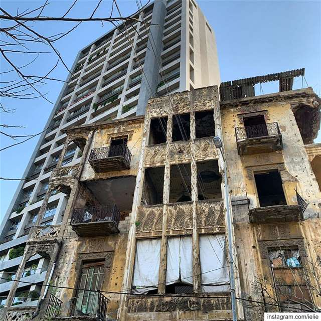 Generations... oldvsnew  buildings  architecture  beirut  quarantine ... (Ras Nabeh - Beirut)