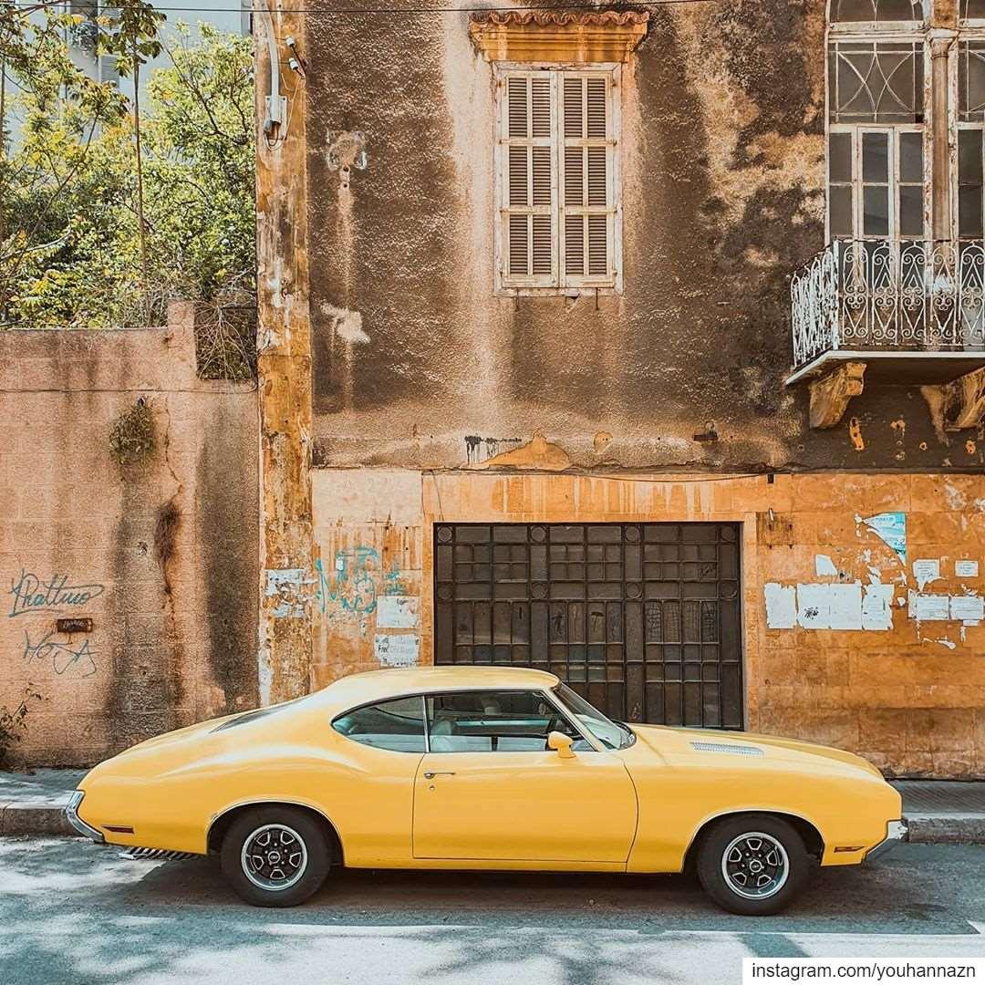 Old is gold 💛 lebanon americanmuscle livelovelebanon mustang ... (Achrafie)