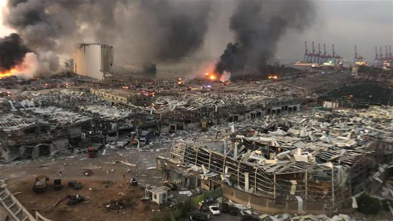 Beirut Port as it looked after the blast