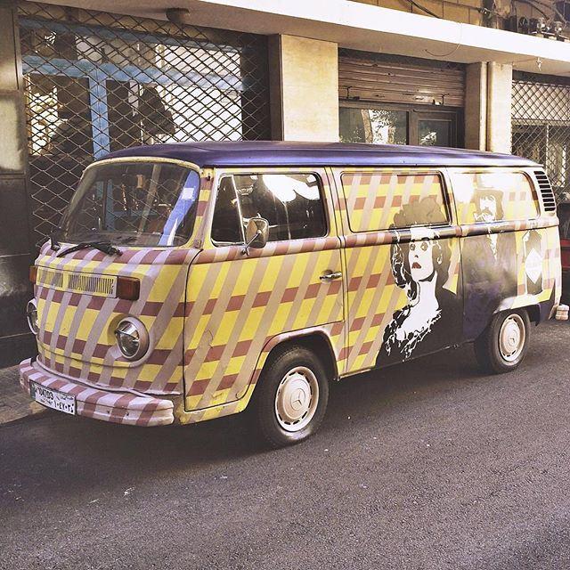 On the road again🚌 Beirut Lebanon volkswagen van (Beirut Lebanon - Ashrafieh)