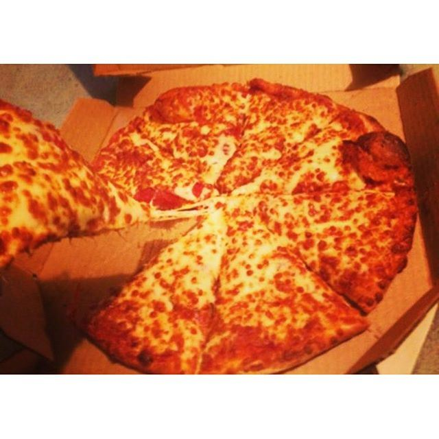 There's no better feeling in the world than a warm pizza box on your lap... (Marina Cafe Miramar Hotel)
