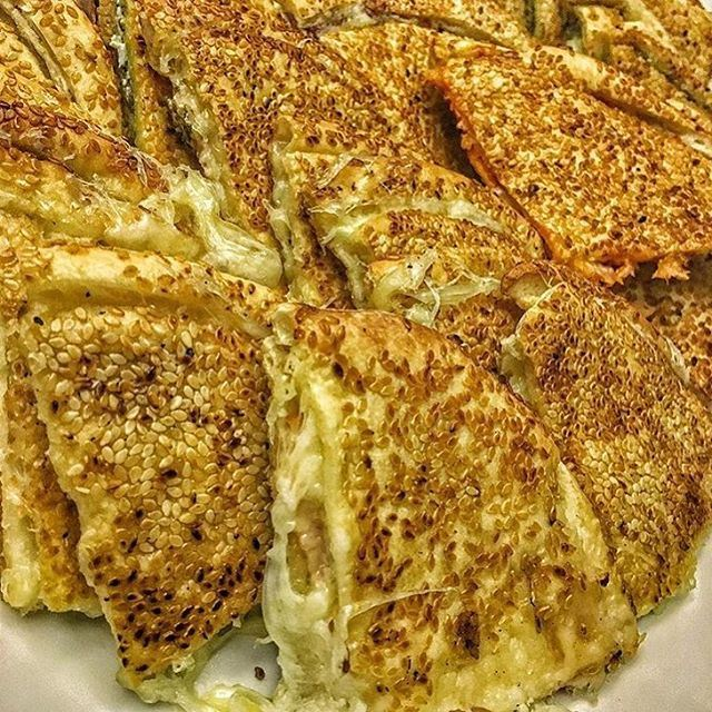 Kaak with melted cheese and Zaatar