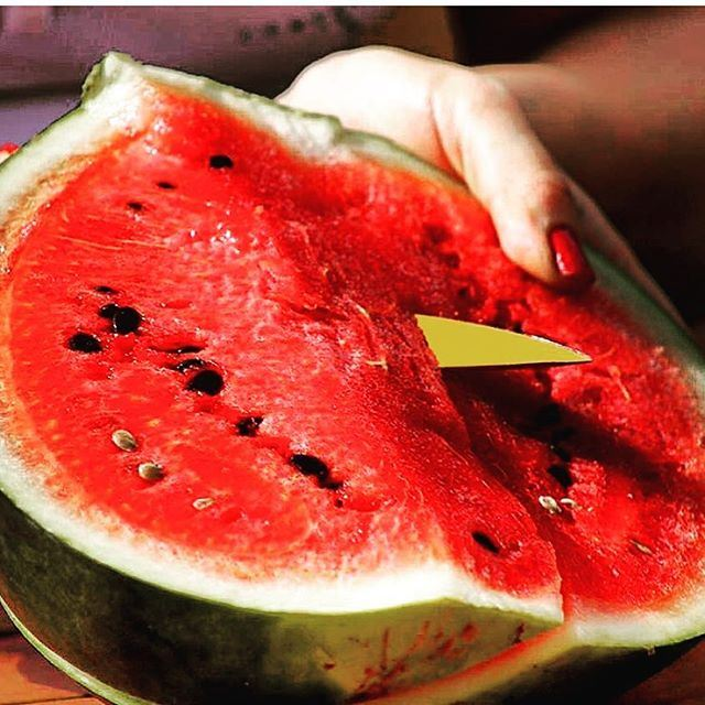 Don't let the seeds stop you from enjoying the watermelon 😋😋😂😂😁😁😜😜 Photo capture via @wissamaoufan