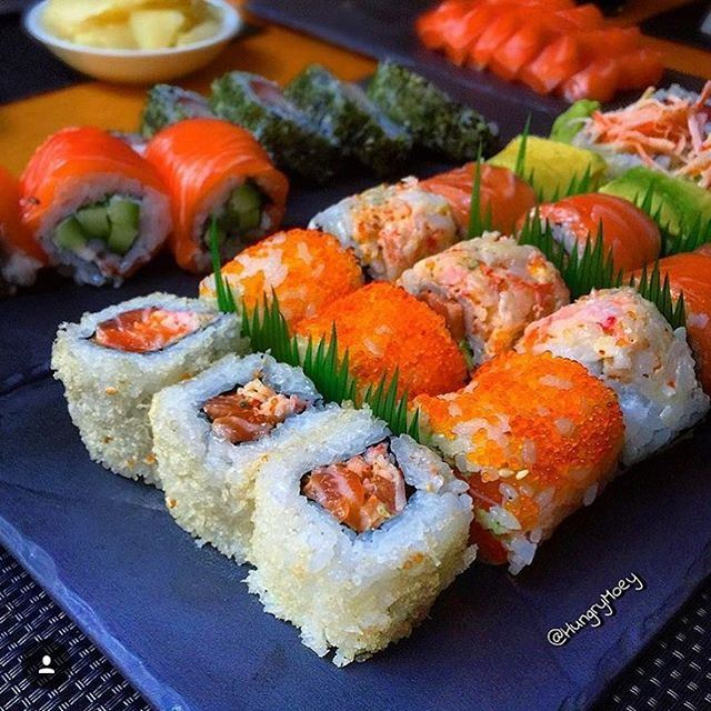 The fine art of preparing sushi is something that you watch and learn @sotolebanon and picture capture via  @hungrymoey  (Soto)