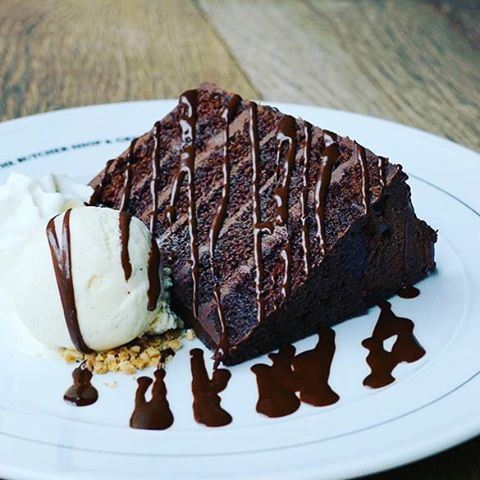 Part of the secret of success in life is to eat what you like... And i love Chocolate cake with Ice Cream and extra chocolate sauce😋😋😋😋 Photo repost via @thebutchershop  (The Butcher Shop & Grill Lebanon)