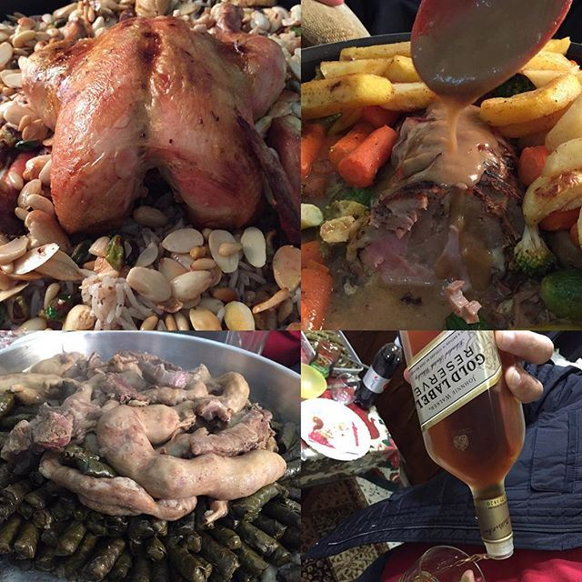 Family gatherings are only complete when there's food around ChristmasLunch (Achrafieh, Lebanon)