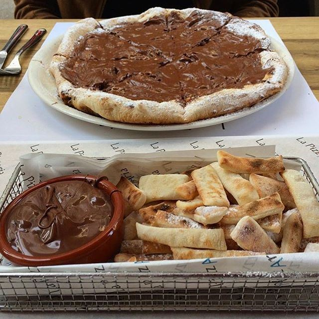 If anyone tells you to stop eating so much chocolate, stop talking to them you don't need that kind of negativity in your life (La Pizzeria beirut)
