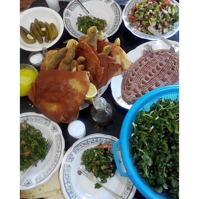 This is simple of our Lebanese table for Lunch on Sunday (Bhayri)