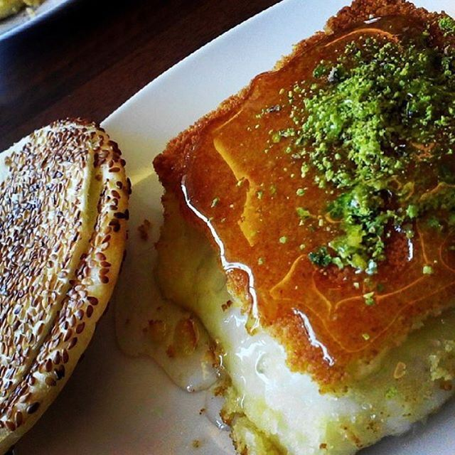 One thing we can all agree on is that Knefeh tastes best in the morning and after... ❤️ (Tripoli Abdel Rahman Al Hallab)