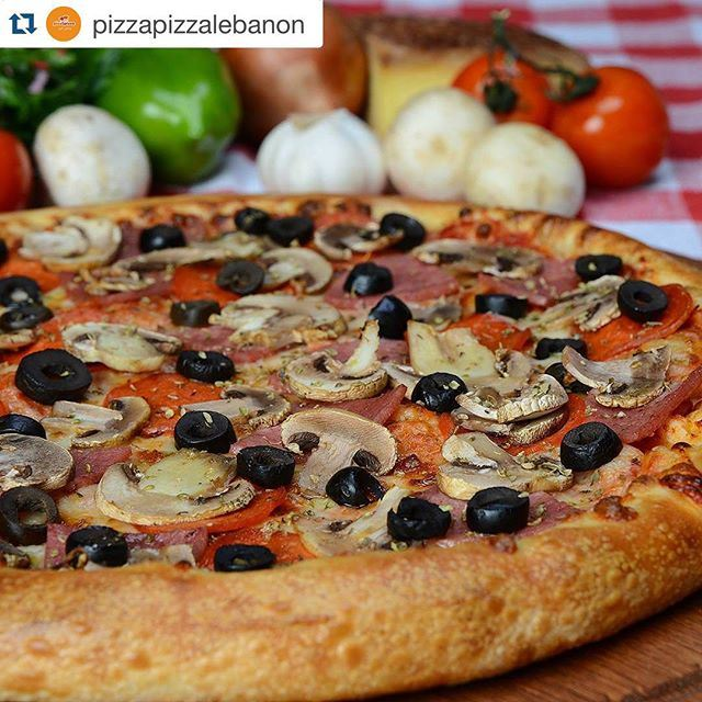 The secret of pizza is everyone can eat in everywhere!!! Even in morning as Breakfast.. (Pizza Pizza Lebanon)