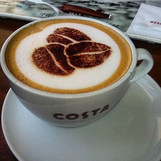 I need my breakfast but first please bring my cappuccino to wake up from the evening of yesterday!!! (Costa)