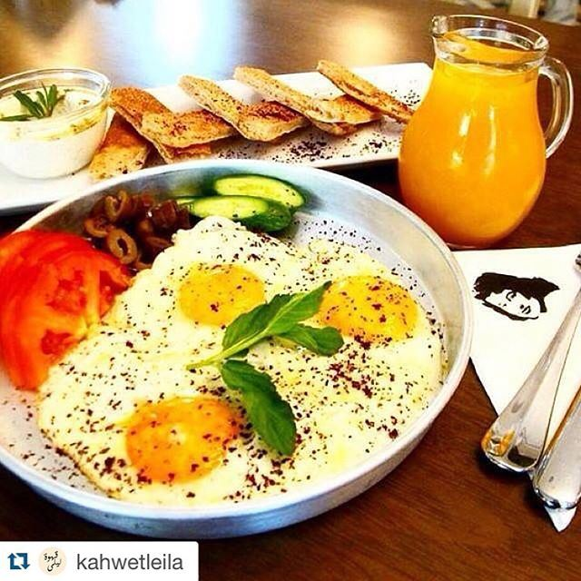 Even if its Monday, i have time to take my breakfast in my way !!!! (Leila Min Lebnen)