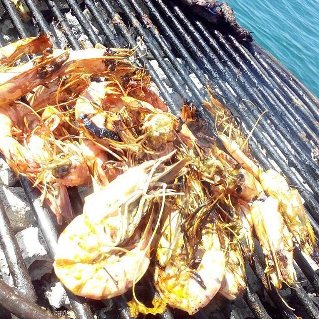 Summer Saturday call for a some lebanese grilling and what better than shrimps.... (Public Parc Jbeil)