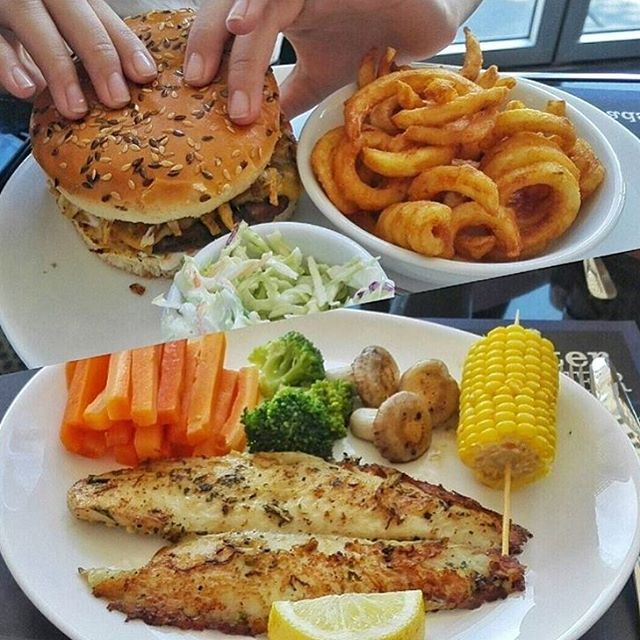 What's you choice??? Lovely burger with fries!! Or (What's for Lunch/ What's for Dinner)