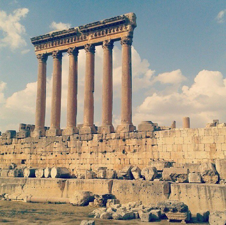 Wish you a Good Morning from Baalbeck ❤️ (Temple Of Jupiter - Baalbeck)