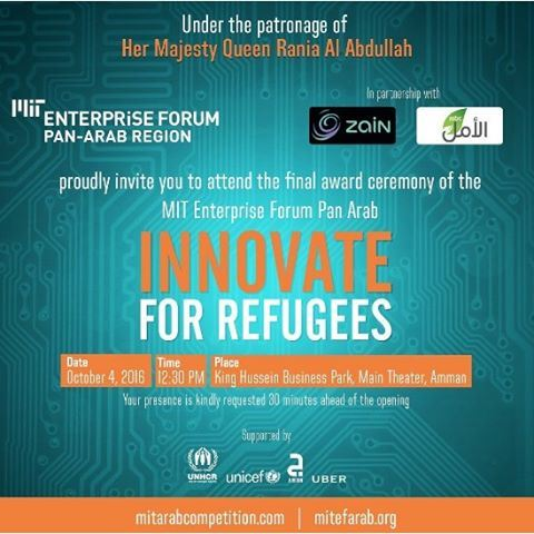 We are proud to have been chosen as a finalist at the MIT Pan Arab Enterprise Forum. We're leaving for Amman tomorrow. Wish us luck!