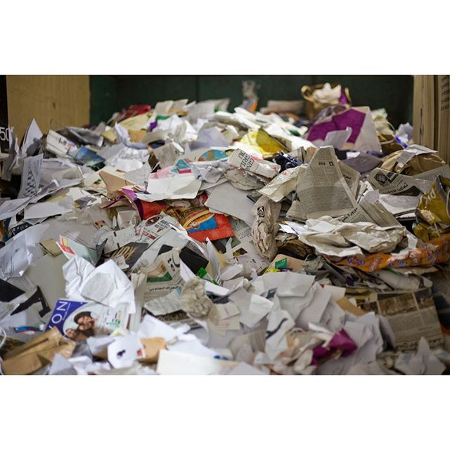 Did you know that paper is in huge demand by recycling factories in Lebanon? There's not a reason in the world to throw it out.