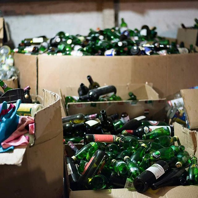 Did you know recycling creates 10 times the number of jobs as land-filling at about half the cost? (And that's not mentioning the environmental benefit.) (Beirut, Lebanon)
