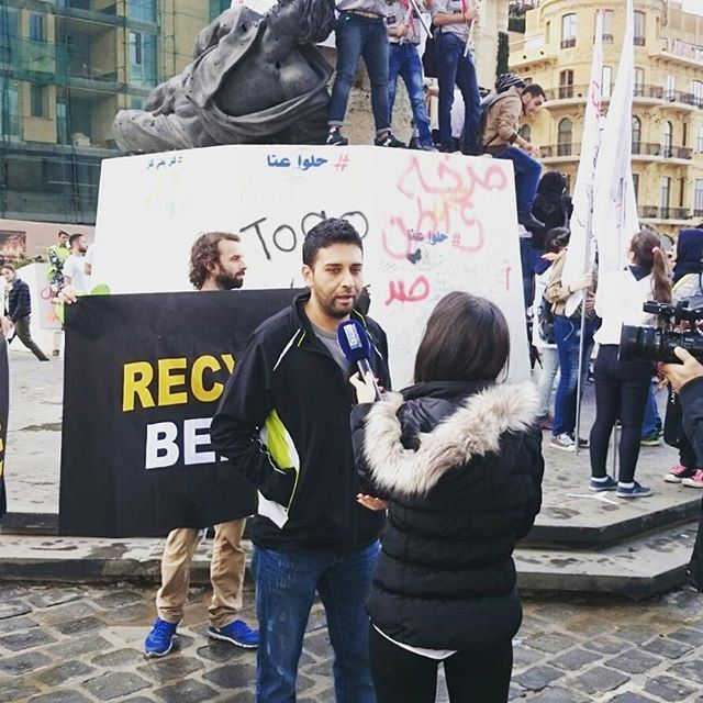 Recycle Beirut at the Climate March yesterday.