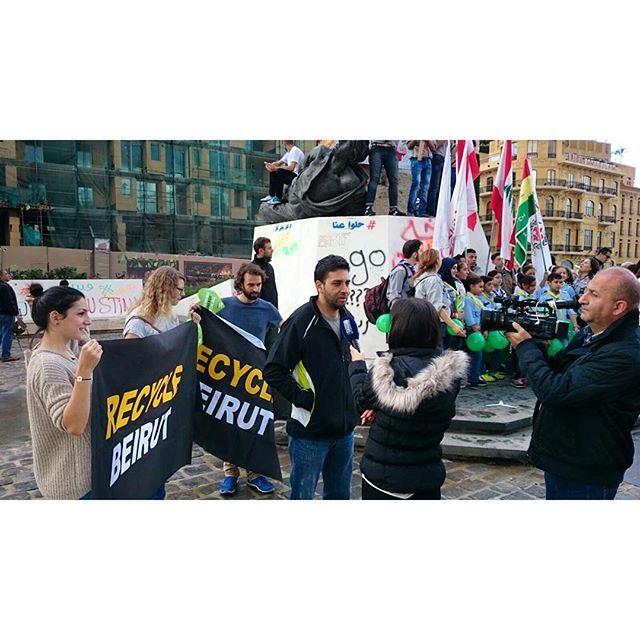 Watch us tonight on lbc. thenews recyclebeirut recycle lebanon beirut thinkgreen tv martyrsquare mybeirut lebanese (Martyrs' Square, Beirut)