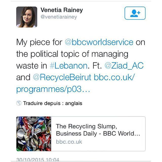 Thank you @venetiarainey !! bbc spreadtheword weremovingfast recyclebeirut recycle lebanon bbctravel bbcradio1 bbcone bbcradio ♻️🙏🏻