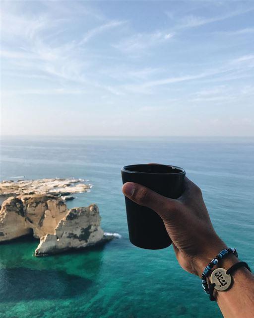Bonjorkon! Nothing says 'Good Morning' i (Rawsheh, Beirut, Lebanon)