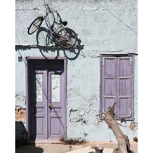 Because bicycles are always useful 💜🚲 (Beirut, Lebanon)
