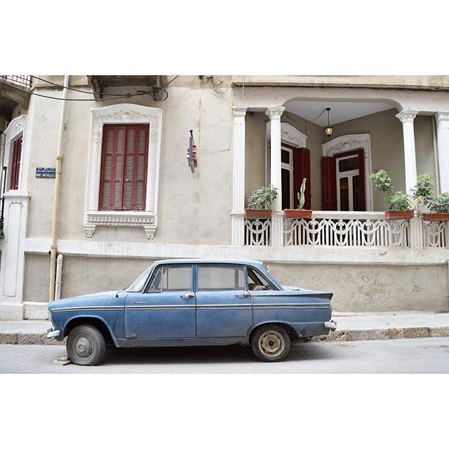 Whether it still functions or not, this car has become part of the house 💙 liveauthentic (Beirut, Lebanon)