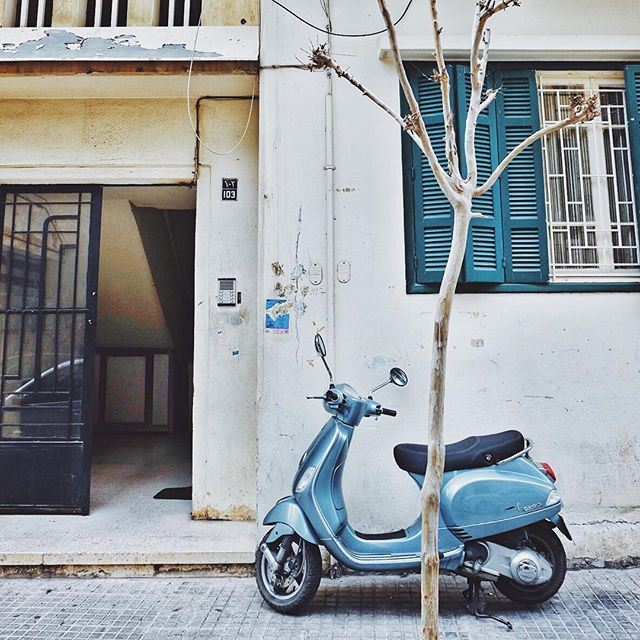 Vespas make less traffic jams and more colorful streets! (Beirut, Lebanon)