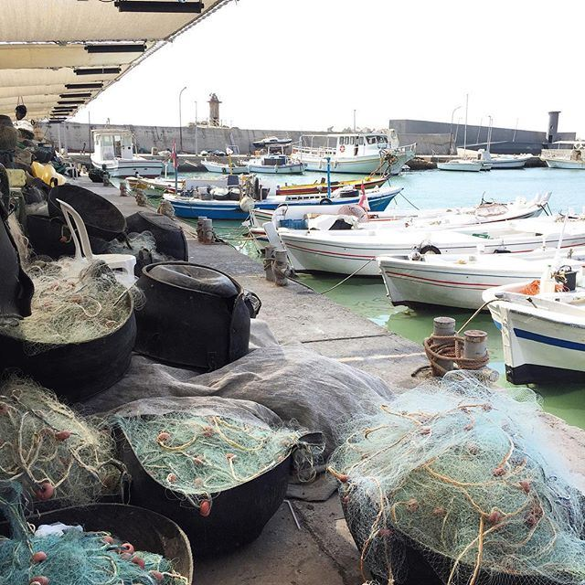 The nets are ready for night fishing 🚤⚓️🚣🎣 liveauthentic (Port Batroun)
