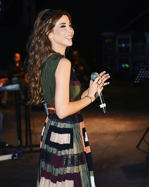 Nancy Ajram Shinning in Amchit Festival 2016